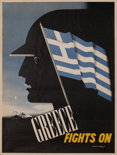 Greece Fights On, Original WWII Poster