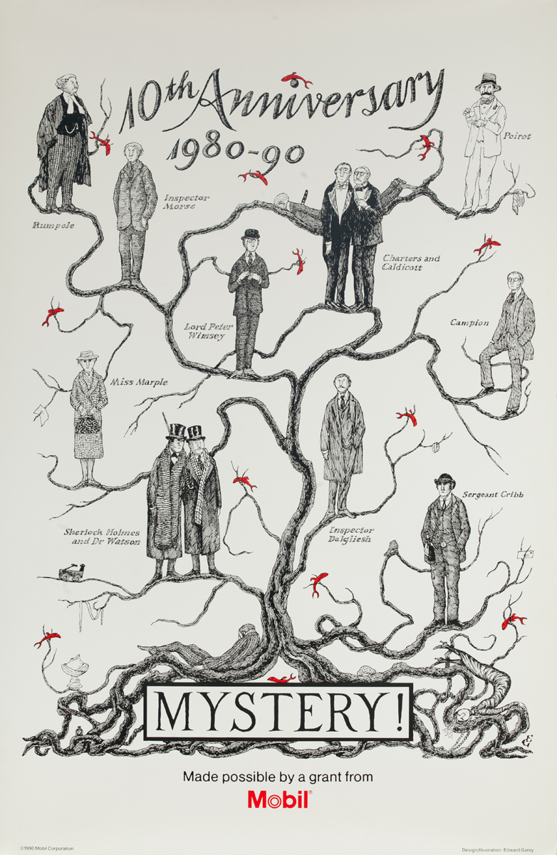10th Anniversay 1880-90, Original Mobil Mystery! Adveretising Poster