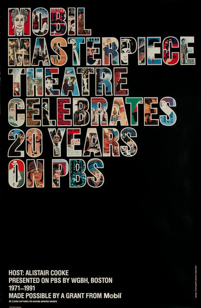 Mobil Masterpiece Theatre Celebrates 20 Years on PBS, Original Adveretising Poster