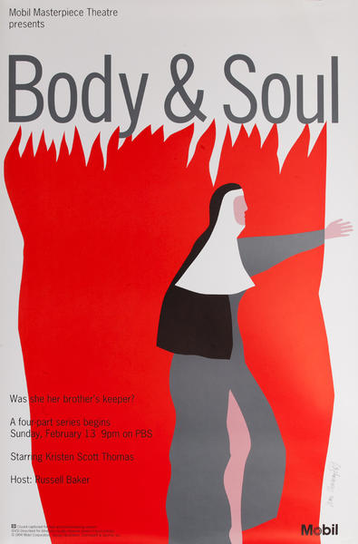 Mobil Masterpiece Theatre Presents - Body & Soul, Original Advertising Poster