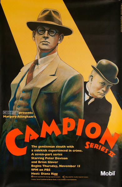 Mobil Mystery Theatre Presents - Margery Allingham's Campion Series II, Original Advertising Poster