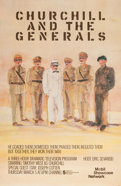 Churchill and His Generals, Original Mobil Showcase Network Advertising Poster