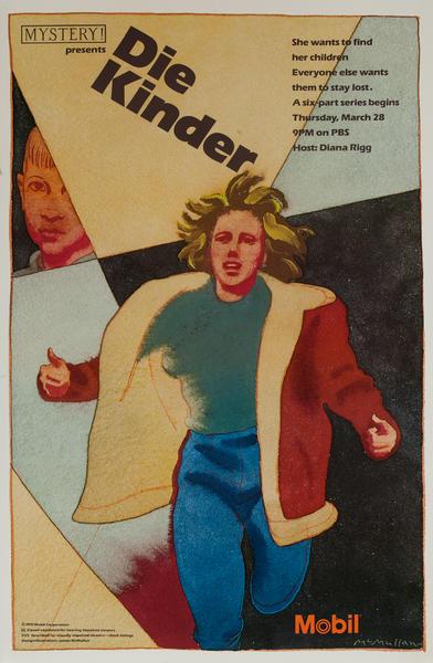 Mobil Mystery Presents Die Kinder, Original Advertising Poster