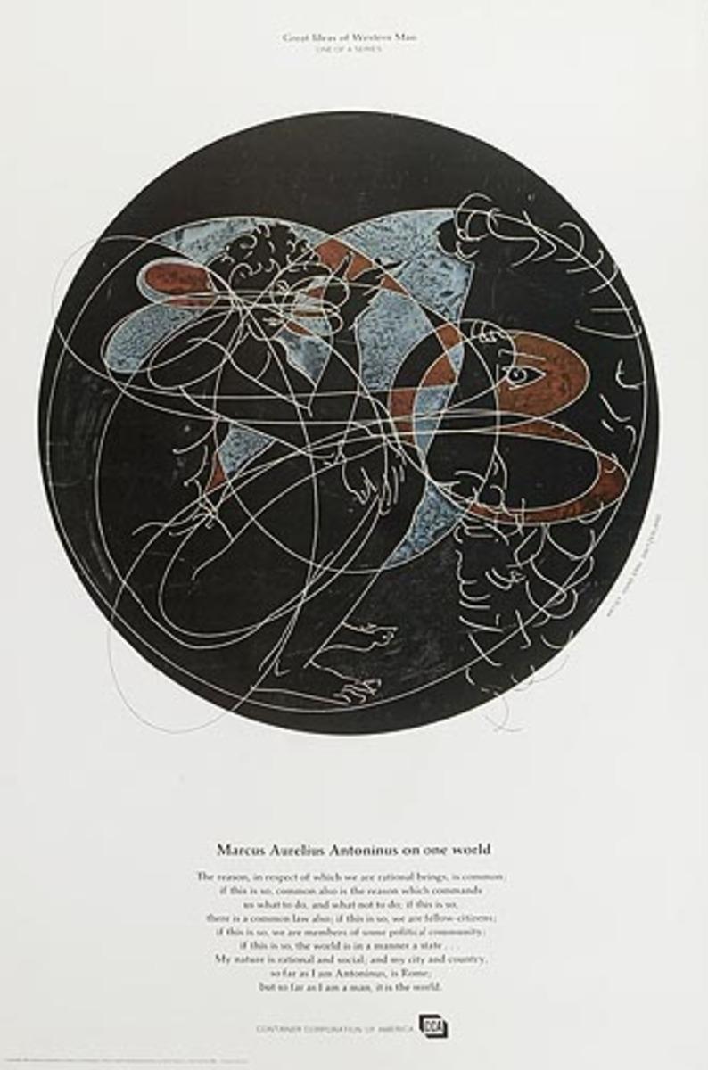 Container Corporation of America Original Public Relations Poster Marcus Aurelius Antoninus
