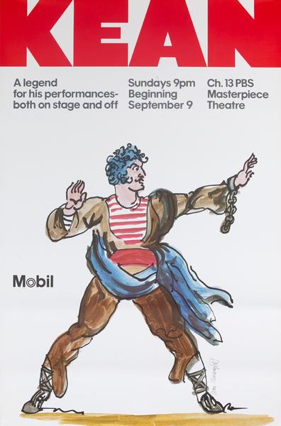 Mobil Masterpiece Theatre presents - Kean, Original Advertisng Poster