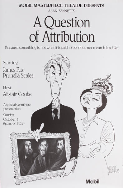 Mobil Masterpiece Theatre presents - A Question of Attribution, Original Advertisng Poster