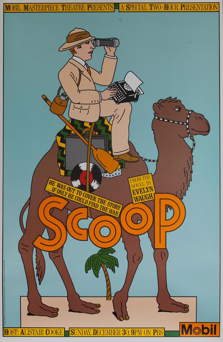 Mobil Masterpiece Theatre presents - Scoop, Original Advertisng Poster