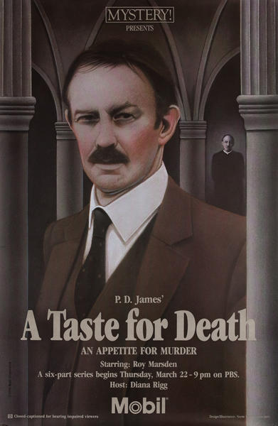 Mobil Mystery Presents - P.D. James' A Taste for Death, Original Advertising Poster