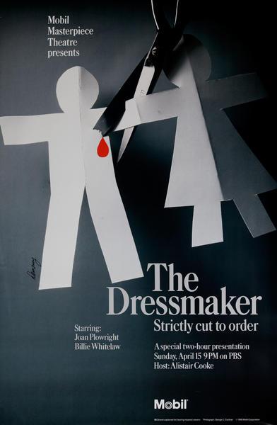 Mobil Masterpiece Theatre Presents - The Dressmaker, Original Advertising Poster
