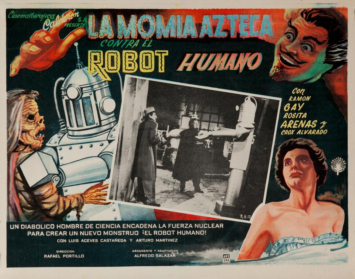 Robot vs. The Aztec Mummy, La Momia Azteca Contra el Robot Humano, Original Mexican Lobby Card