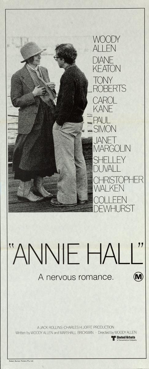 Annie Hall Original Movie Insert Poster
