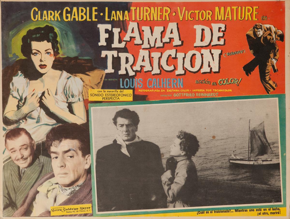 Betrayed, Flama de Traicion, Original Mexican Lobby Card