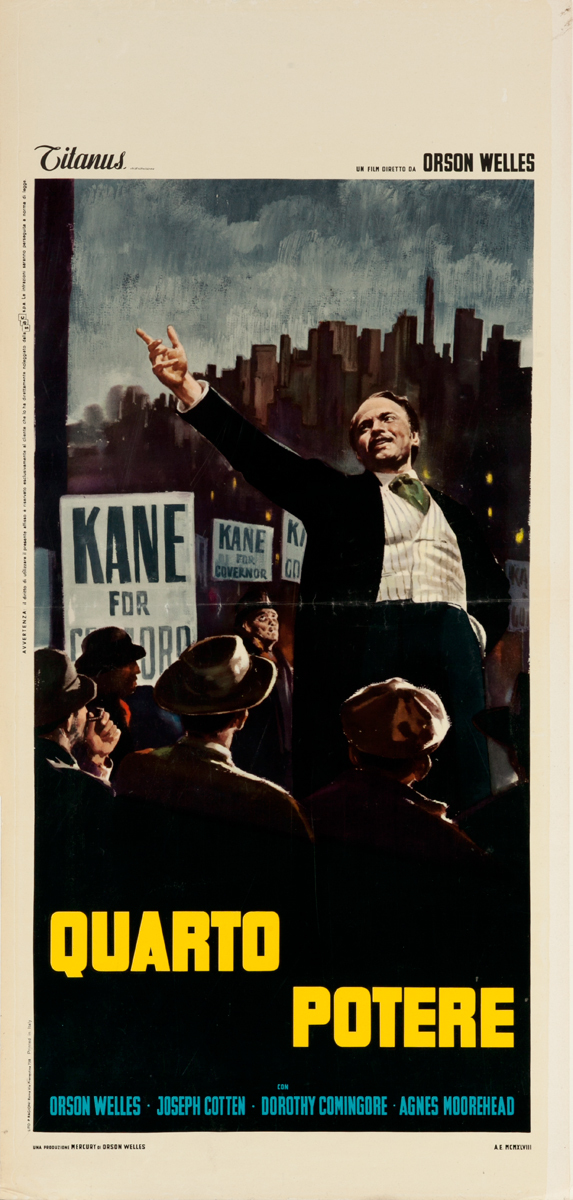 Citizen Kane Original Italian Locandina Poster