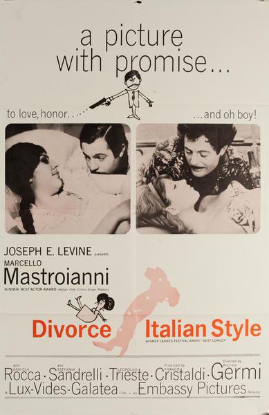 Divorce Italian Style, Divorzio all'italiana (original title) Original Movie Poster