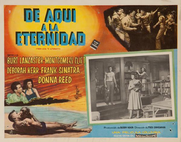 De Aqui A La Eternidad, From Here to Eternity Original Mexican Lobby Card