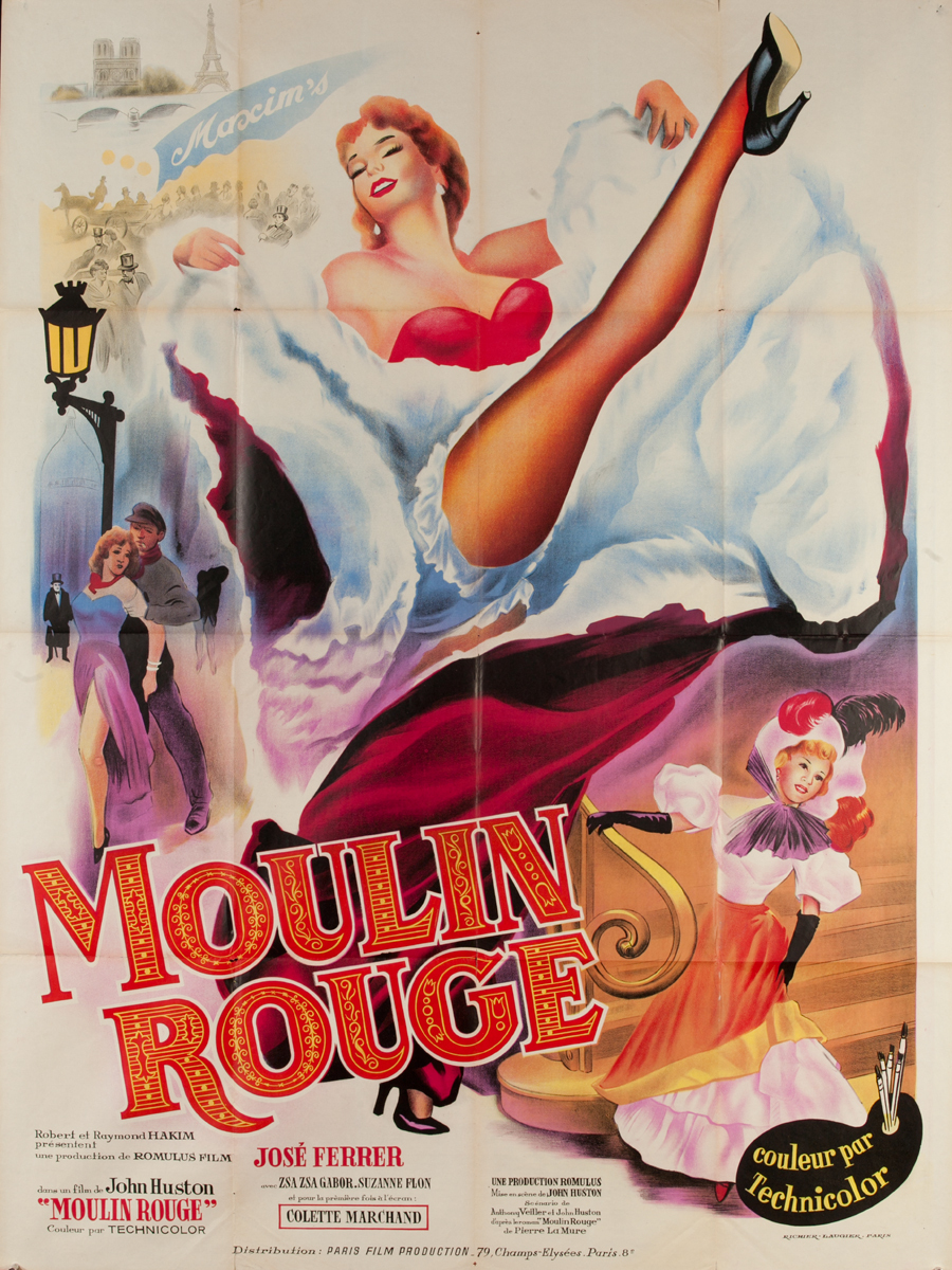 Moulin Rough Original French Movie Poster