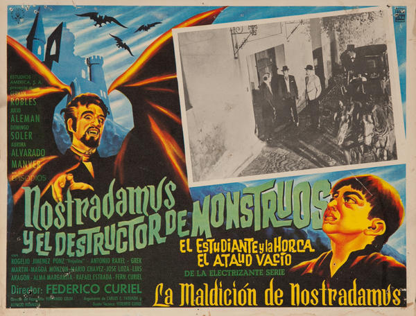 Nostradamus y el Destructor de Monstruos, Nostradamus and the Monster Demolisher Original Mexican Lobby Card