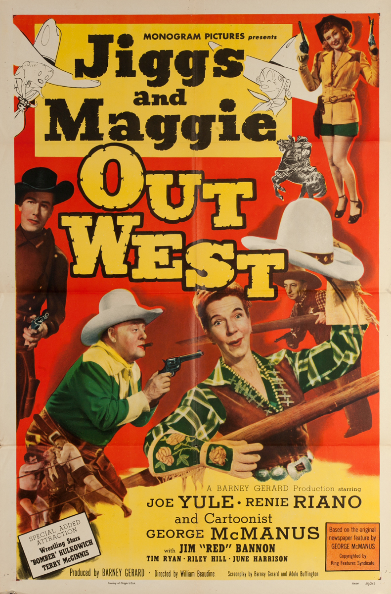 Jiggs and Maggie Out West Original American 1 Sheet Western Movie Poster