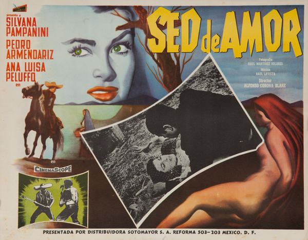 Sed De Amor, Thirst for Love, Original Mexican Movie Lobby Card