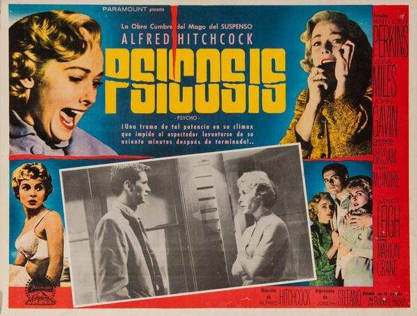 Psicosis, Psycho, Original Mexican Lobby Card