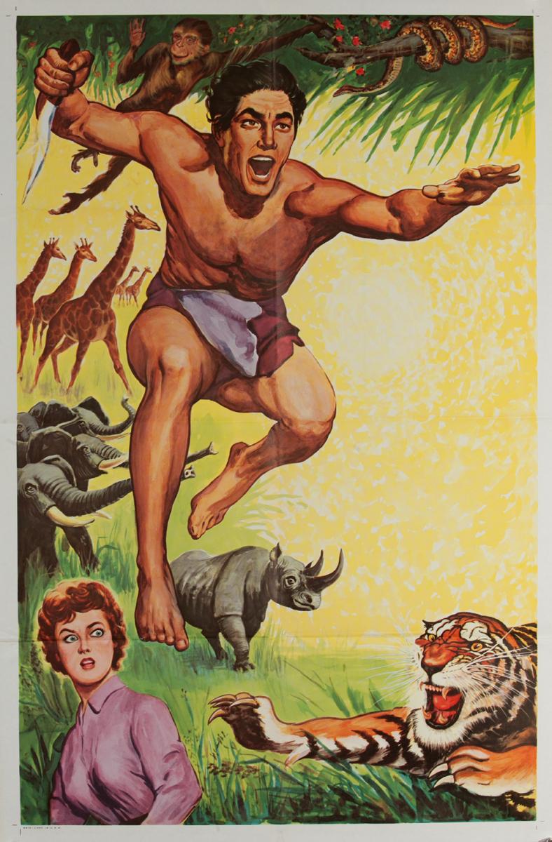 Tarzan (untitled) Original American 1 Sheet Movie Poster