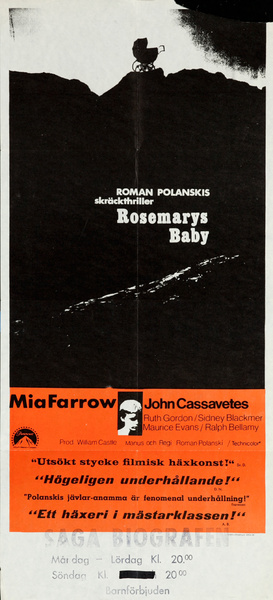 Rosemary's Baby,  Original Swedish Movie Poster