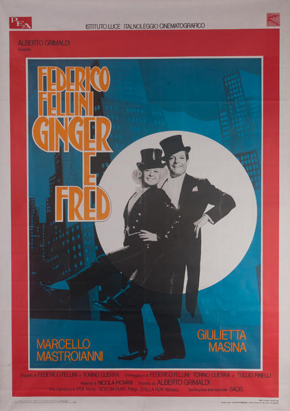 Ginger and Fred Original Italian Movie Poster