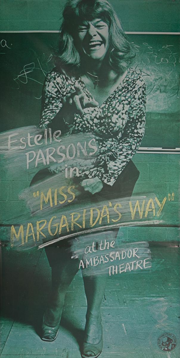 Estelle Parsons in Miss Margarida's Way Original 3 Sheet Theater Poster