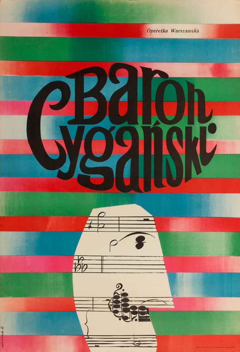 Baron Cyganski, The Gypsy Baron Original Polish Operal Poster