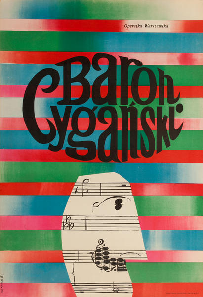 Baron Cyganski, The Gypsy Baron Original Polish Operal Poster