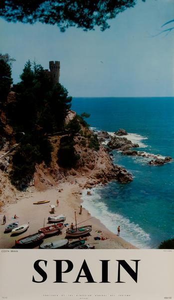 Spanish Travel Poster Costa Brava