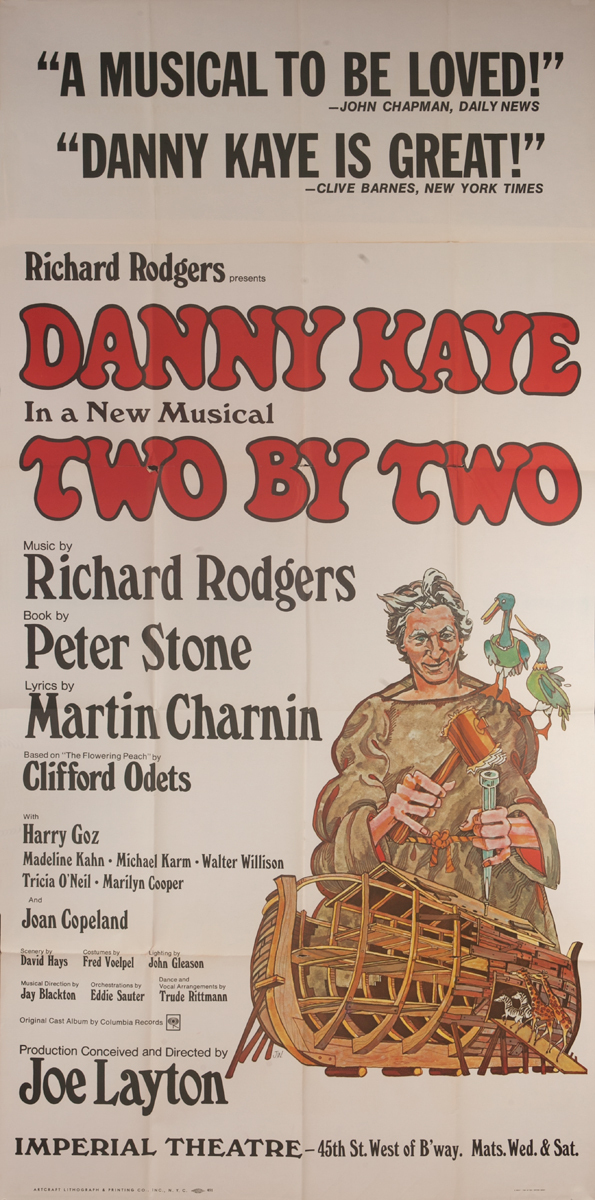 Two by Two Original Broadway Three Sheet Poster