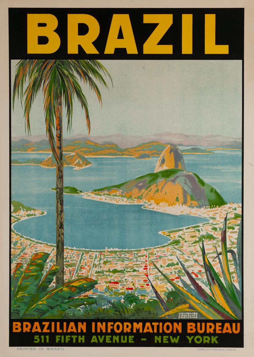 Brazil, Original Brazilian Information Bureau Travel Poster