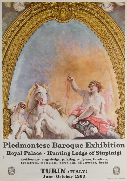 Piedmontese Baroque Exhibition, Turin (Italy) Original Art  Poster