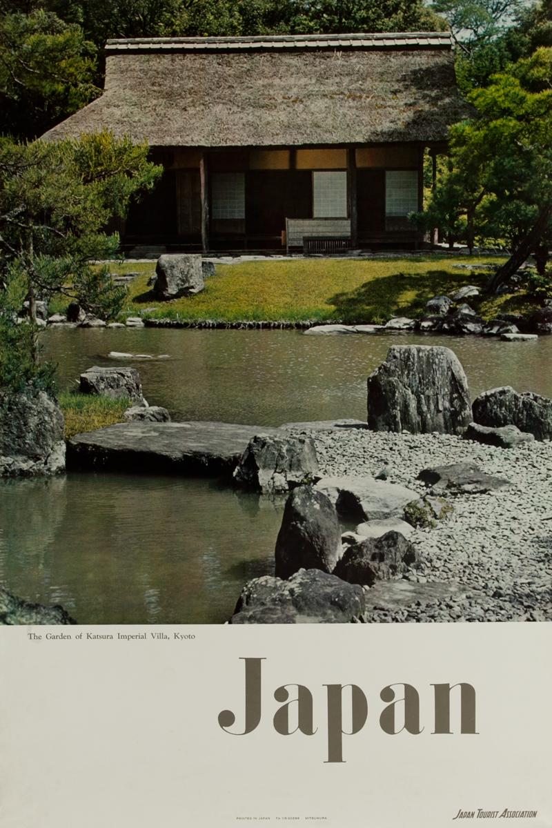 Japan, The Garden of Katsura Imperial Villa, Kyoto, Original Travle Poster