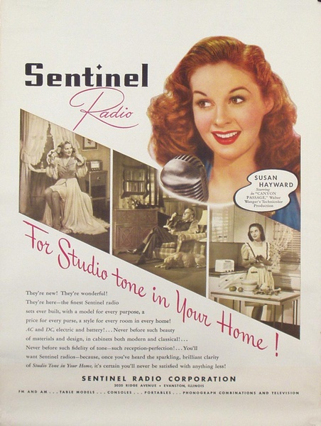 Sentinal Radio Original Advertising Poster Susan Hayward