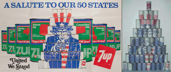 A Salute to our 50 States, Original 7 Up Advertising Poster