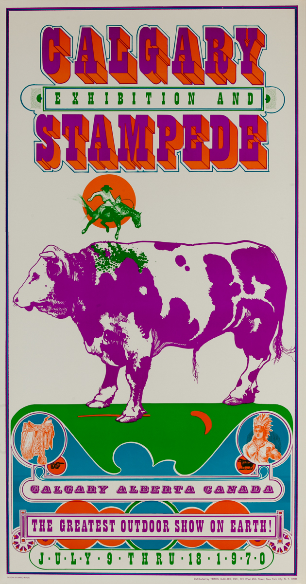 Calgary Exhibition and Stampede, 1970, Original Travel Poster