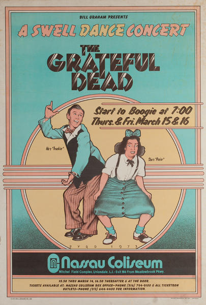 A Swell Dance Concert, The Grateful Dead Original Concert Poster