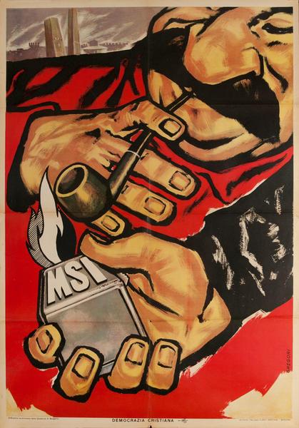MSI, Original Christian Democratic Party, Democrazia Cristiana Italian Political Poster