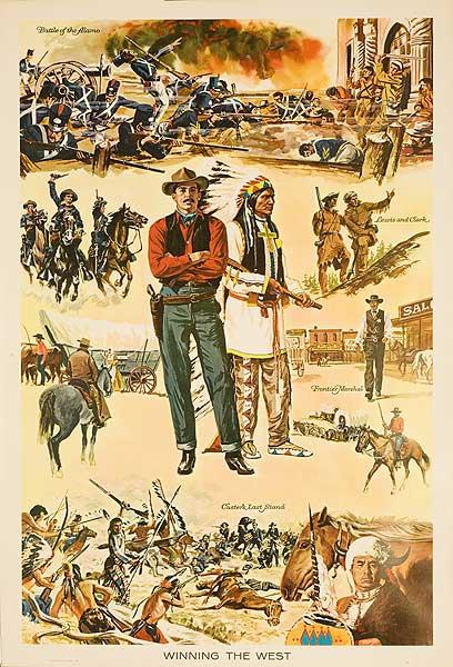 Winning the West Original Education Poster