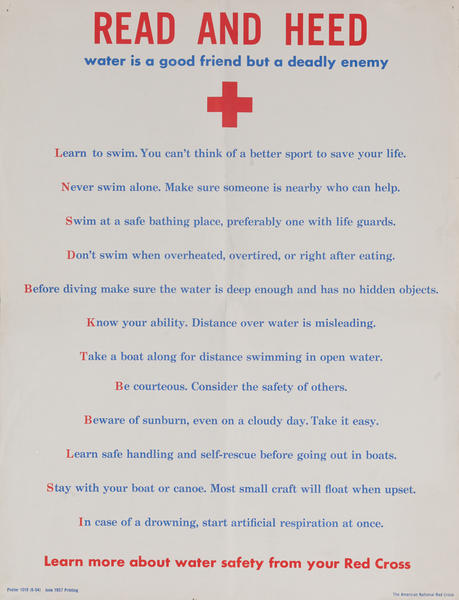 Red Cross Read and Head Original Poster