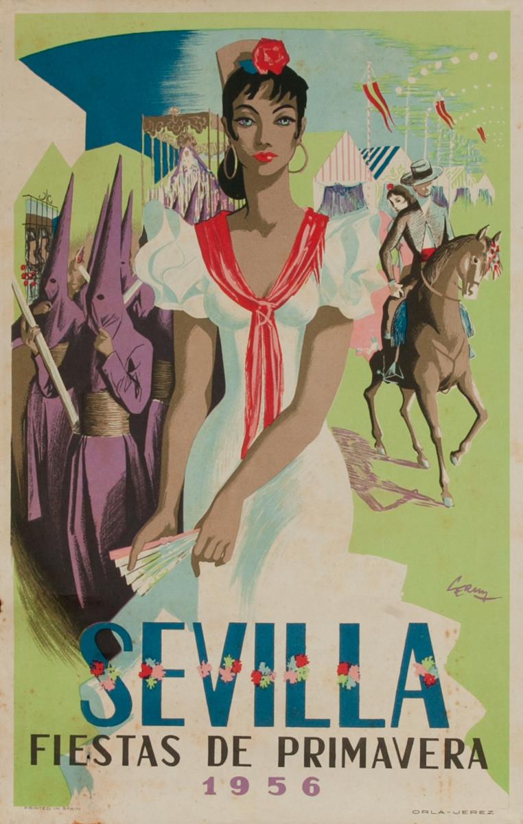 Sevilla Fiestas de Primavera, Original Travel Poster