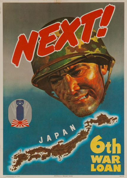 Next! 6th War Loan, Original American WWII Bond Poster