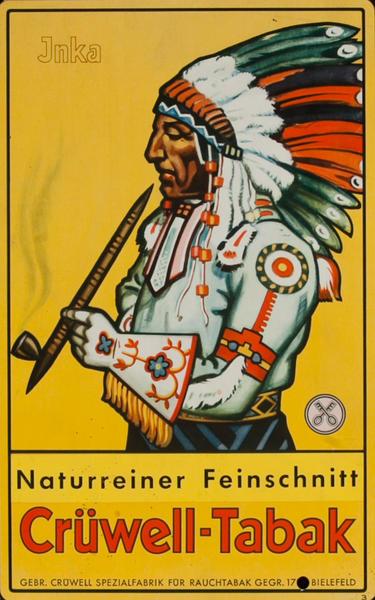 Cruwlee Tabak Original German Advertising Poster