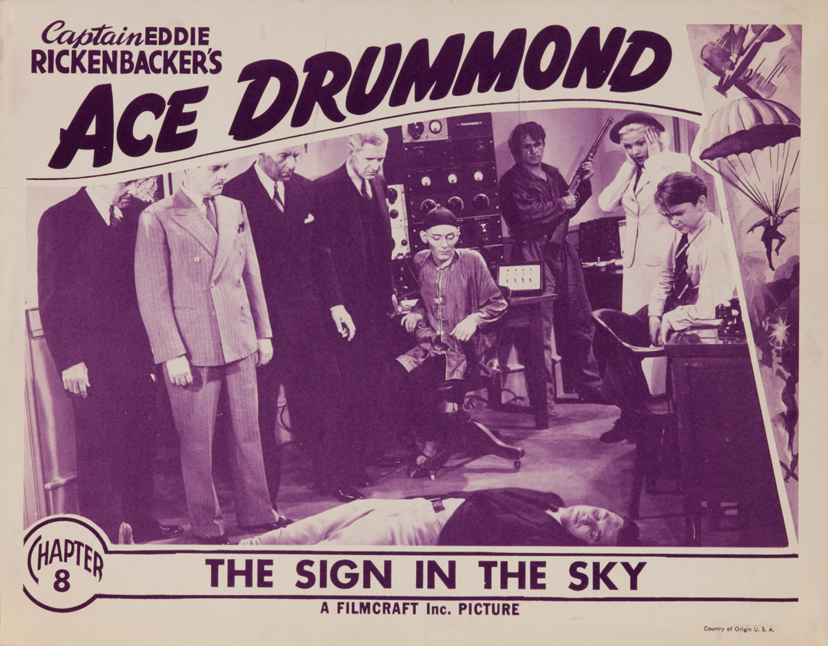 Ace Drummond Chapter 8 The SIgn in the Sky, Original Lobby Card