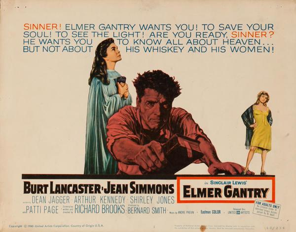 Elmer Gantry, Original Lobby Card