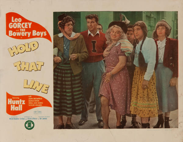 Hold That Line Original Bowery Boys Lobby Card