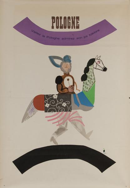 Visitez la Pologne admirez son joli folklore, Original Polish Travel Poster
