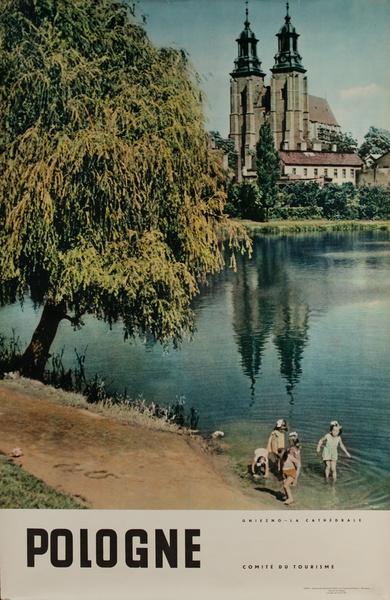 Pologne, Gniezno - La Cathedrale, Original Polish Travel Poster